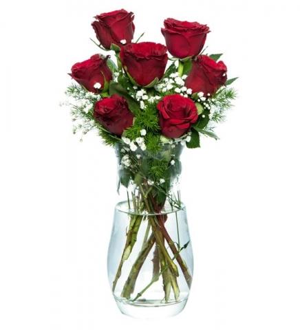 Vazoda Kırmızı Güller 4